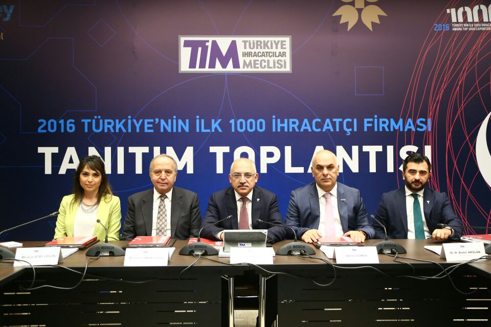 TURKISH EXPORTERS ASSEMBLY ANNOUNCED TOP-1000 EXPORTERS