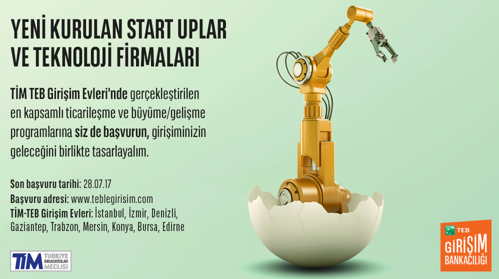TİM-TEB Start-Up Houses New Period Applications are Started
